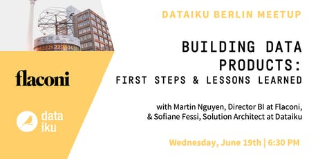 Building data products: first steps & lessons learned tickets