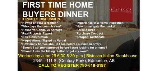 Home Buyers Dinner/Seminar tickets
