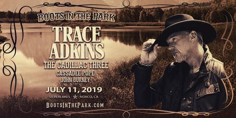 Boots in the Park - SilverLakes with Trace Adkins, The Cadillac Three, Cassadee Pope & More tickets