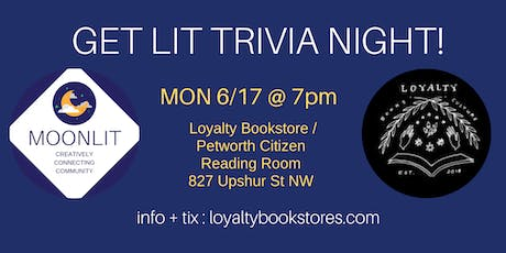 Get Lit Trivia Night with MoonLit! tickets