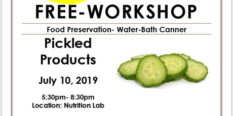 Food Preservation- Pickled Products Workshop tickets
