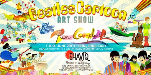 Beatles Cartoon Art Show with Legendary Animator, Ron Campbell