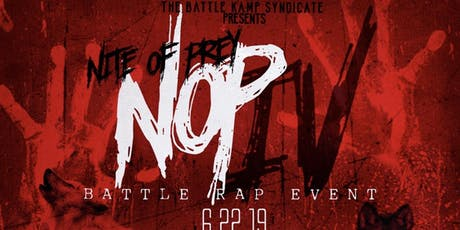 Battle Kamp Presents: Night of Prey 4 tickets