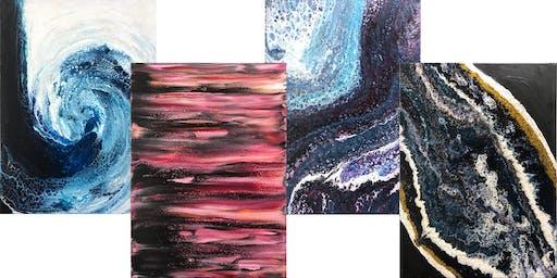 Wine & Design - Paint Pour