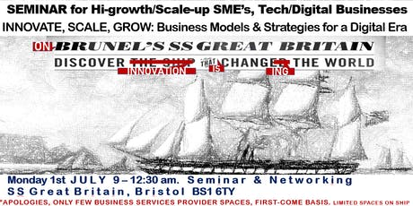 INNOVATE, SCALE, GROW. Business Models & Strategies for the Digital Era tickets