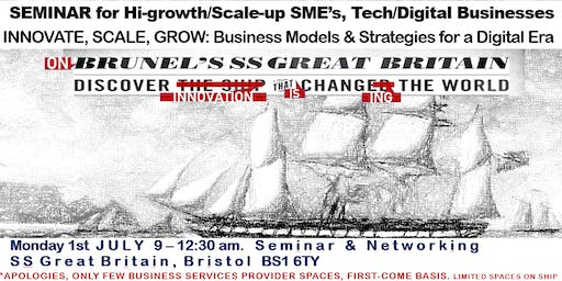 INNOVATE, SCALE, GROW. Business Models & Strategies for the Digital Era