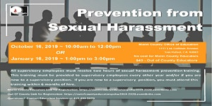Prevention from Sexual Harassment-Educators Outside of...