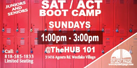 SUNDAY SAT/ACT Boot Camp @theHUB101 tickets