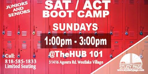 SUNDAY SAT/ACT Boot Camp @theHUB101