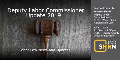 Deputy Labor Commissioner Update 2019 tickets
