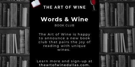 Words & Wine: The Art of Wine Book Club Kickoff tickets