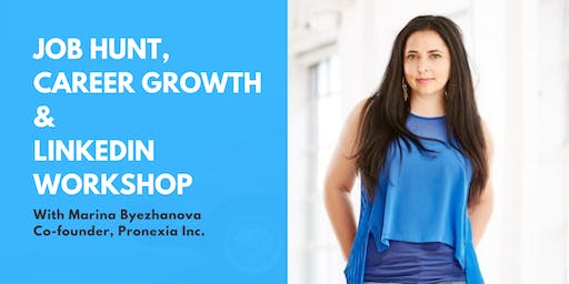 Job Hunt & LinkedIn Workshop with Marina Byezhanova