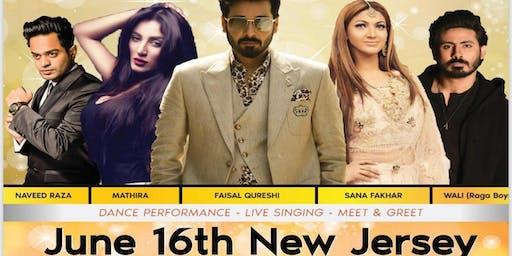 JHOOM-New Jersey  with Faysal Qureshi, Sana , Naveed , Mathira, Raga Boys