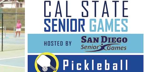 Pickleball Age 50+ Senior State Championships San Diego tickets