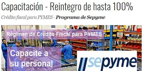 Capacitación y Consultoría con reintegro de Crédito Fiscal al 100% para Pymes entradas