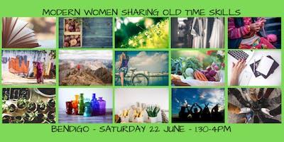 Modern Women sharing old time skills