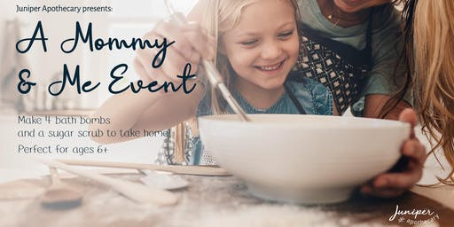 A mommy and me event — Make a bath bomb!