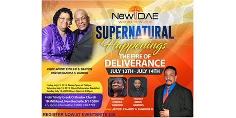Supernatural Happenings: The Fire of Deliverance tickets