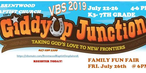 Giddy Up Junction VBS/Family Fun Fair