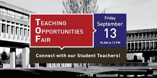 SFU Teaching Opportunities Fair 2019