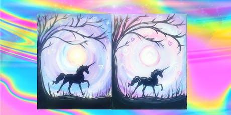 unicorn applique kids Paint tickets