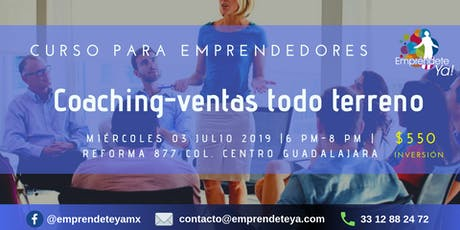 Curso para emprendedores COACHING- VENTAS TODO TERRENO boletos