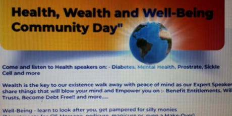 Health Wealth & Well-Being Community Awareness Day tickets