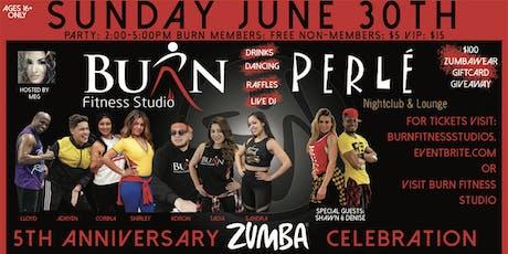 Burn Fitness Studio 5th Anniversary Zumba Celebration tickets