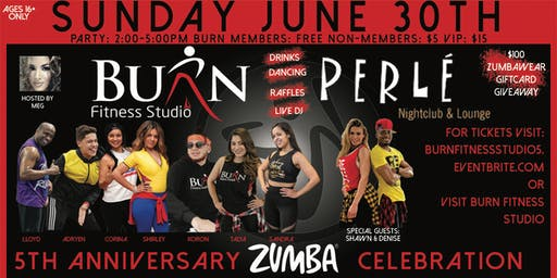 Burn Fitness Studio 5th Anniversary Zumba Celebration