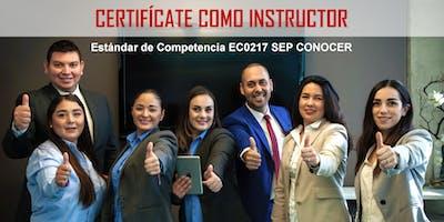 Certifícate como Instructor EC0217 RED CONOCER