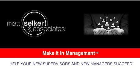 Make It In Management: New Supervisor Edition--Cleveland, OH tickets
