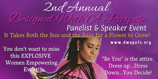 Designed With A Purpose 2nd Annual Panelist & Speaker Event