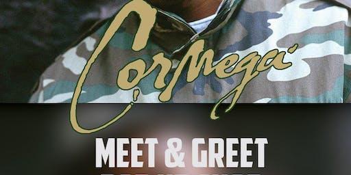 CORMEGA.  POP UP SHOP/ MEET AND GREET