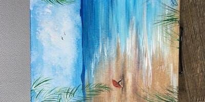 Painting with Lise Lorentzen - Beach Scene