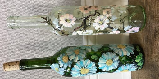 Painted Wine Bottles with Lise Lorentzen
