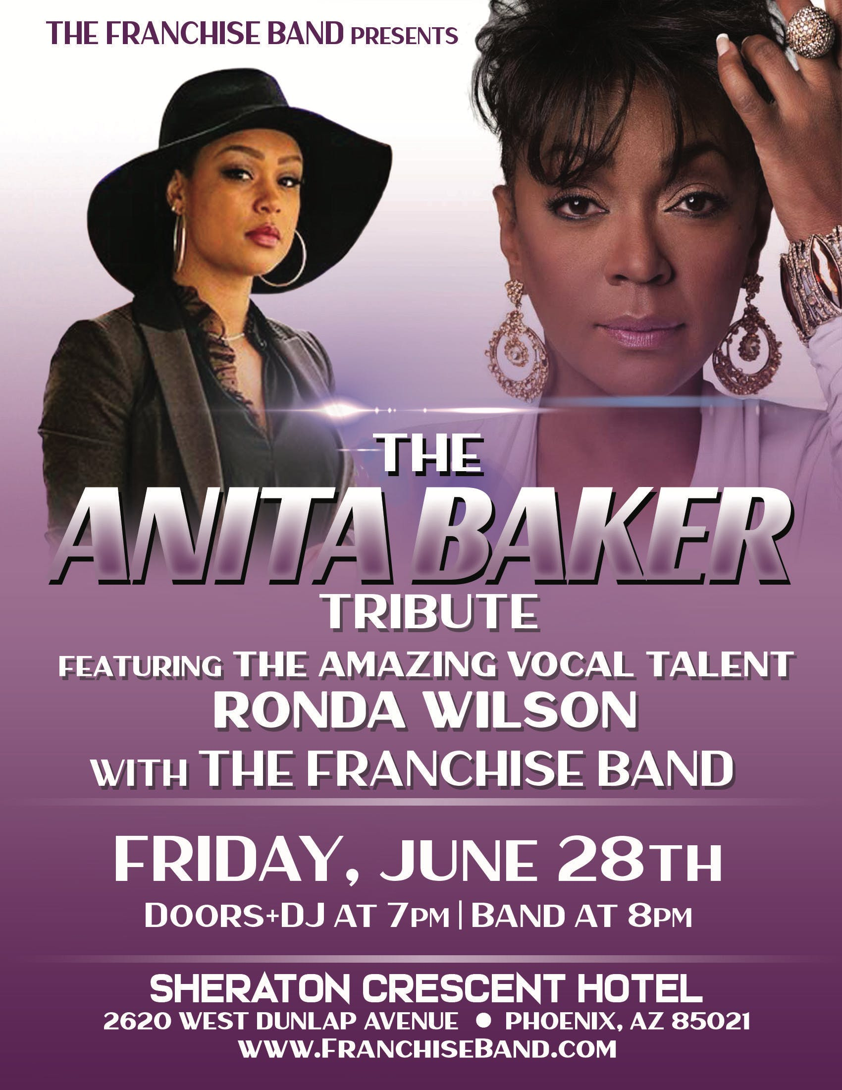 The Franchise Band Presents The Anita Baker Tribute Feat. Ronda Wilson!