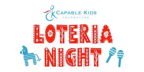 Capable Kids Loteria Fundraiser: June 2019 boletos