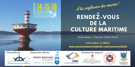 Le Rendez-vous de la culture maritime - À la confluence des marins! tickets
