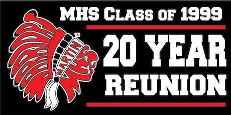 Martin High School, Class of 1999  20th Reunion tickets