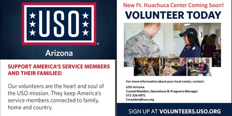 USO Prospective Volunteer Orientation Ft Huachuca tickets