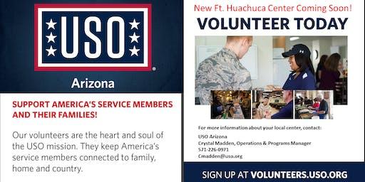 USO Prospective Volunteer Orientation Ft Huachuca