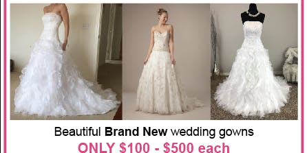 Monique Luo Wedding Dress Clearance!