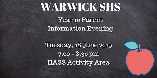 Year 10 Parent Information Evening