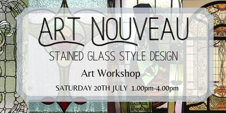 Art Nouveau - Stained Glass Style Design tickets