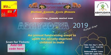 """Abhyudaya 2019"" - A fund raising mesmerizing musical evening (Sangeeta Sanje) tickets"