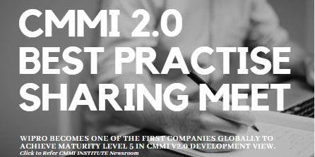 CMMI 2.0 Best Practice Sharing Meet
