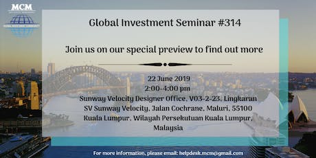 Global Investment Seminar #314 tickets