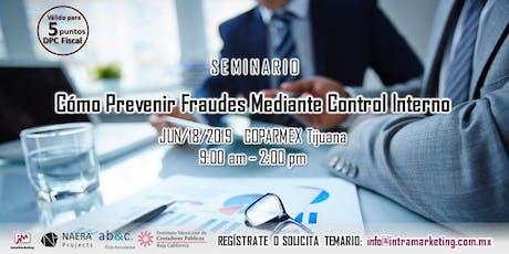 Seminario Cómo Prevenir Fraudes Mediante el Control Interno entradas