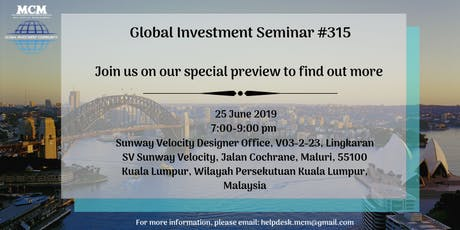 Global Investment Seminar #315 tickets