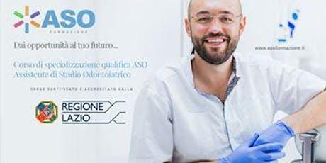 Open Day per Corso Assistente alla Poltrona Odontoiatrica ASO biglietti